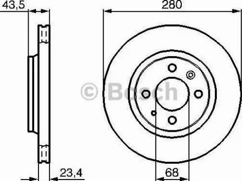 BOSCH 0 986 478 375 - Bremžu diski interparts.lv