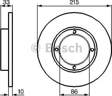 BOSCH 0 986 478 376 - Bremžu diski interparts.lv