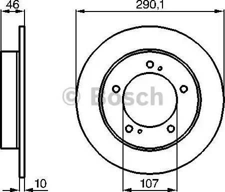 BOSCH 0 986 478 377 - Bremžu diski interparts.lv