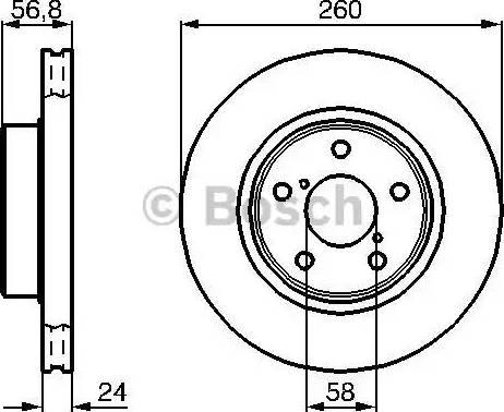 BOSCH 0 986 478 293 - Bremžu diski interparts.lv