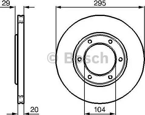 BOSCH 0 986 478 257 - Bremžu diski interparts.lv