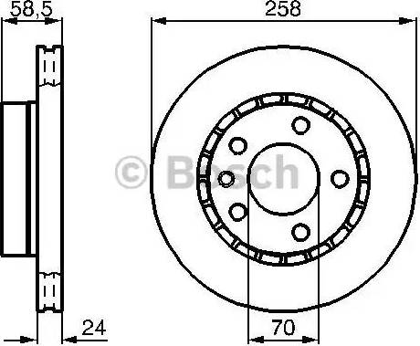 BOSCH 0 986 478 265 - Bremžu diski interparts.lv