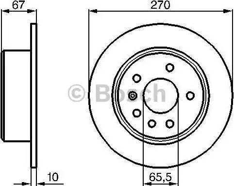BOSCH 0 986 478 267 - Bremžu diski interparts.lv