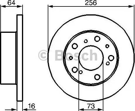 BOSCH 0 986 478 200 - Bremžu diski interparts.lv