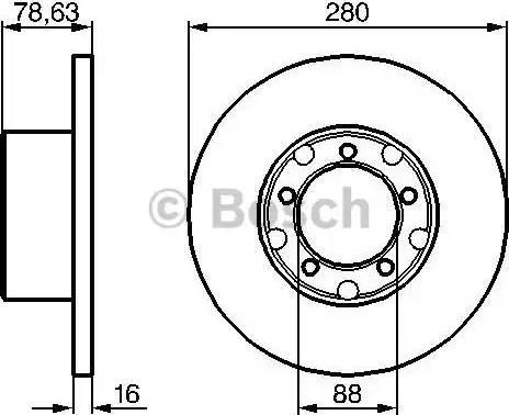 BOSCH 0 986 478 201 - Bremžu diski interparts.lv