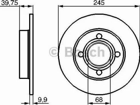 BOSCH 0 986 478 216 - Bremžu diski interparts.lv