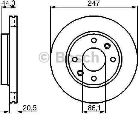 BOSCH 0 986 478 211 - Bremžu diski interparts.lv