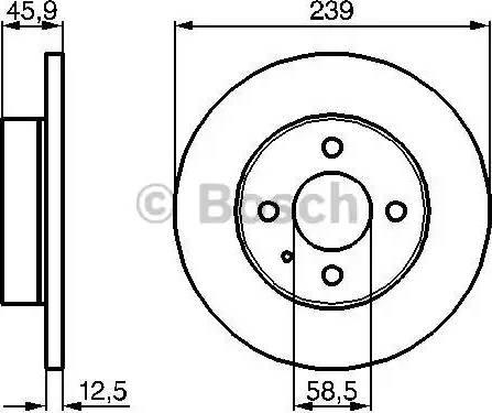 BOSCH 0 986 478 212 - Bremžu diski interparts.lv
