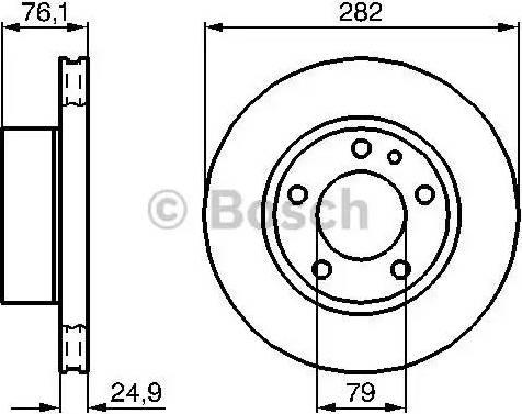 BOSCH 0 986 478 217 - Bremžu diski interparts.lv