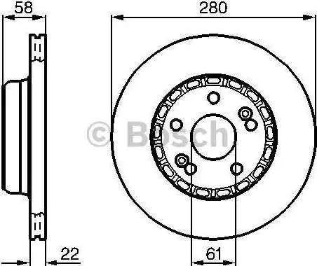BOSCH 0 986 478 280 - Bremžu diski interparts.lv