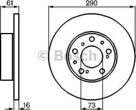 BOSCH 0 986 478 234 - Bremžu diski interparts.lv