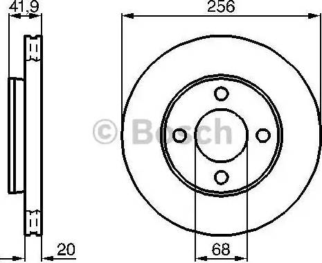 BOSCH 0 986 478 225 - Bremžu diski interparts.lv