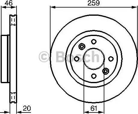 BOSCH 0 986 478 270 - Bremžu diski interparts.lv