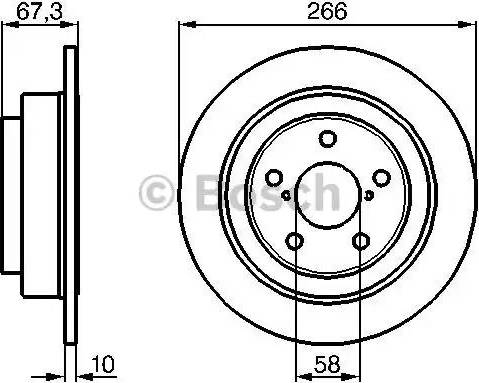 BOSCH 0 986 478 799 - Bremžu diski interparts.lv