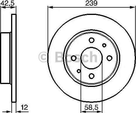 BOSCH 0 986 478 747 - Bremžu diski interparts.lv