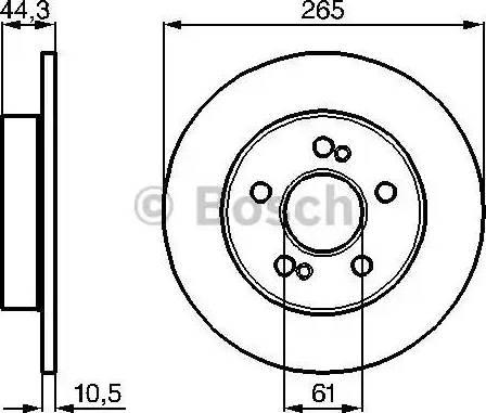 BOSCH 0 986 478 758 - Bremžu diski interparts.lv