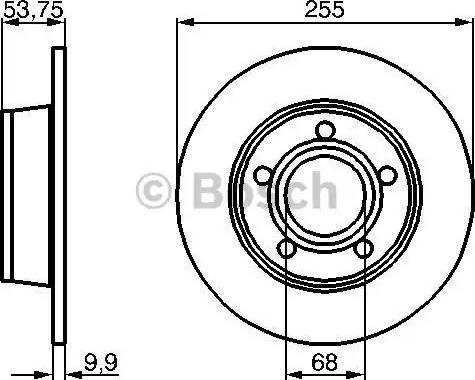 BOSCH 0 986 478 704 - Bremžu diski interparts.lv