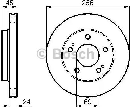 BOSCH 0 986 478 708 - Bremžu diski interparts.lv