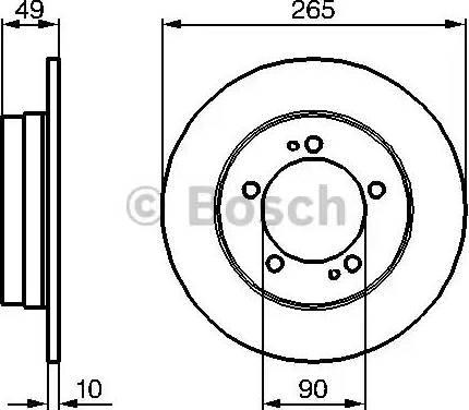 BOSCH 0 986 478 707 - Bremžu diski interparts.lv