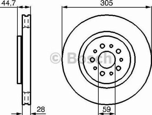 BOSCH 0 986 478 711 - Bremžu diski interparts.lv