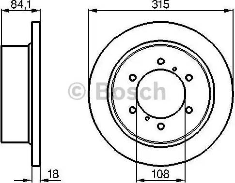 BOSCH 0 986 478 713 - Bremžu diski interparts.lv