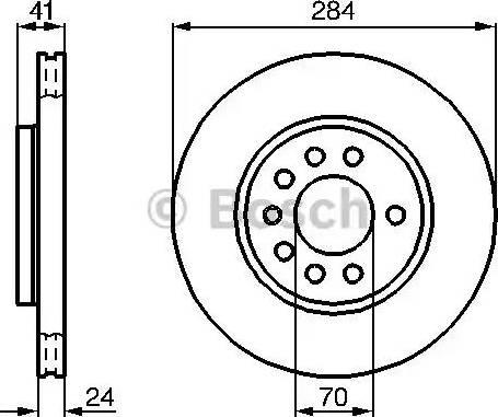 BOSCH 0 986 478 717 - Bremžu diski interparts.lv