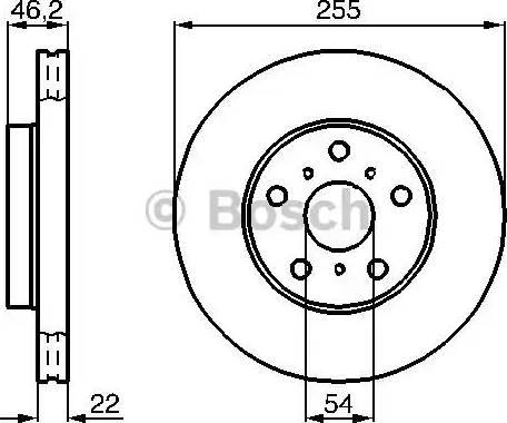 BOSCH 0 986 478 725 - Bremžu diski interparts.lv