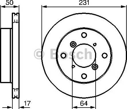 BOSCH 0 986 478 721 - Bremžu diski interparts.lv