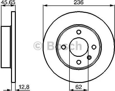 BOSCH 0 986 478 776 - Bremžu diski interparts.lv