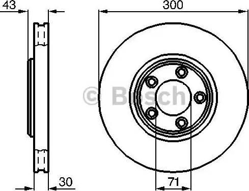 BOSCH 0 986 478 778 - Bremžu diski interparts.lv