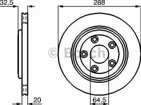 BOSCH 0 986 478 777 - Bremžu diski interparts.lv