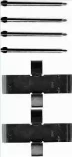 Brembo A 02 321 - Piederumu komplekts, Disku bremžu uzlikas interparts.lv