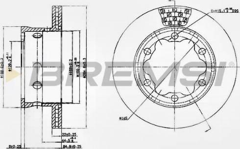 Bremsi CD5191V - Bremžu diski interparts.lv