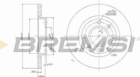 Bremsi CD6995S - Bremžu diski interparts.lv