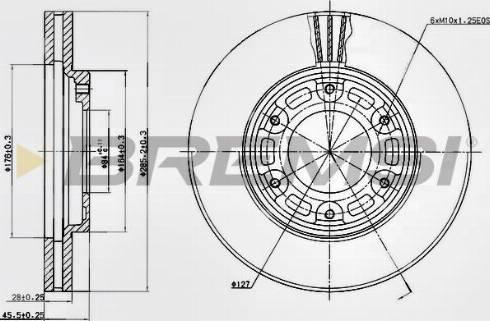 Bremsi CD6991V - Bremžu diski interparts.lv