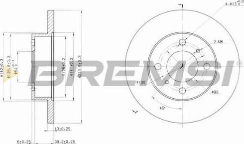 Bremsi CD6998S - Bremžu diski interparts.lv