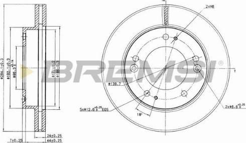 Bremsi CD6993V - Bremžu diski interparts.lv