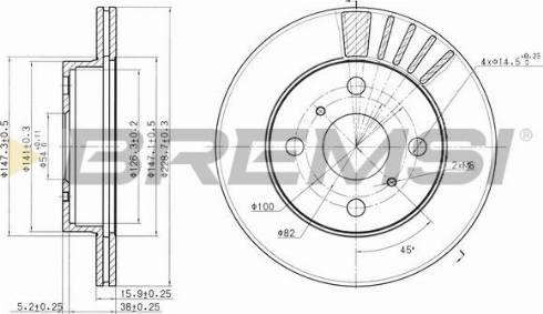 Bremsi CD6948V - Bremžu diski interparts.lv