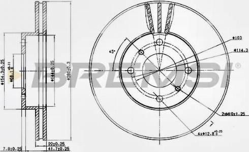 Bremsi CD6959V - Bremžu diski interparts.lv
