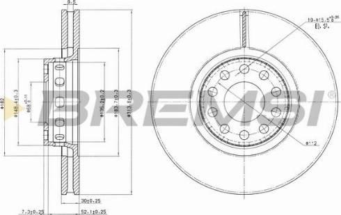 Bremsi CD6954V - Bremžu diski interparts.lv