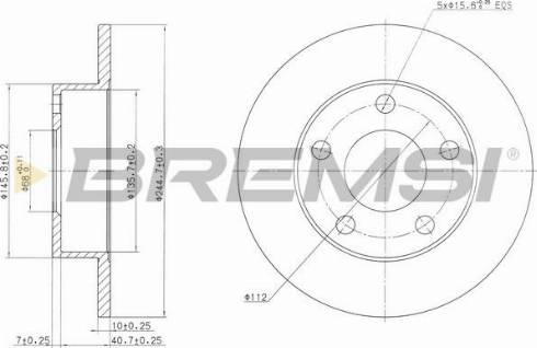 Bremsi CD6952S - Bremžu diski interparts.lv