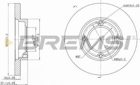 Bremsi CD6968S - Bremžu diski interparts.lv