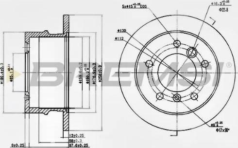 Bremsi CD6931S - Bremžu diski interparts.lv