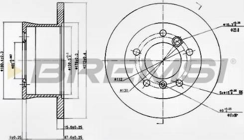 Bremsi CD6932S - Bremžu diski interparts.lv