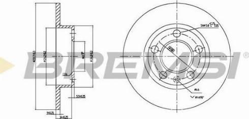 Bremsi CD6929S - Bremžu diski interparts.lv