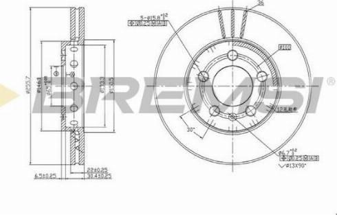 Bremsi CD6927V - Bremžu diski interparts.lv
