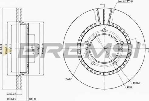 Bremsi CD6979V - Bremžu diski interparts.lv