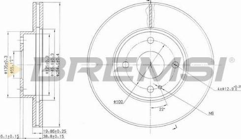Bremsi CD6975V - Bremžu diski interparts.lv