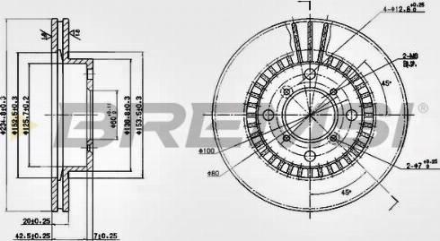 Bremsi CD6978V - Bremžu diski interparts.lv