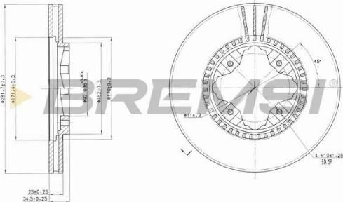 Bremsi CD6494V - Bremžu diski interparts.lv